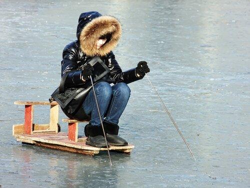 Монолыжа с седушкой и лыжными палками, Мой Китай, photo by WTiggA