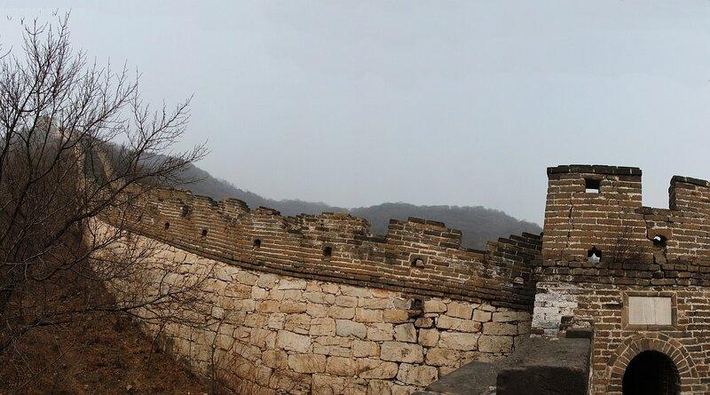 Не туристическая китайская стена Переход