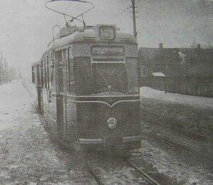 Трамвайний поїзд Гота на вул.Східній, 1960-ті.