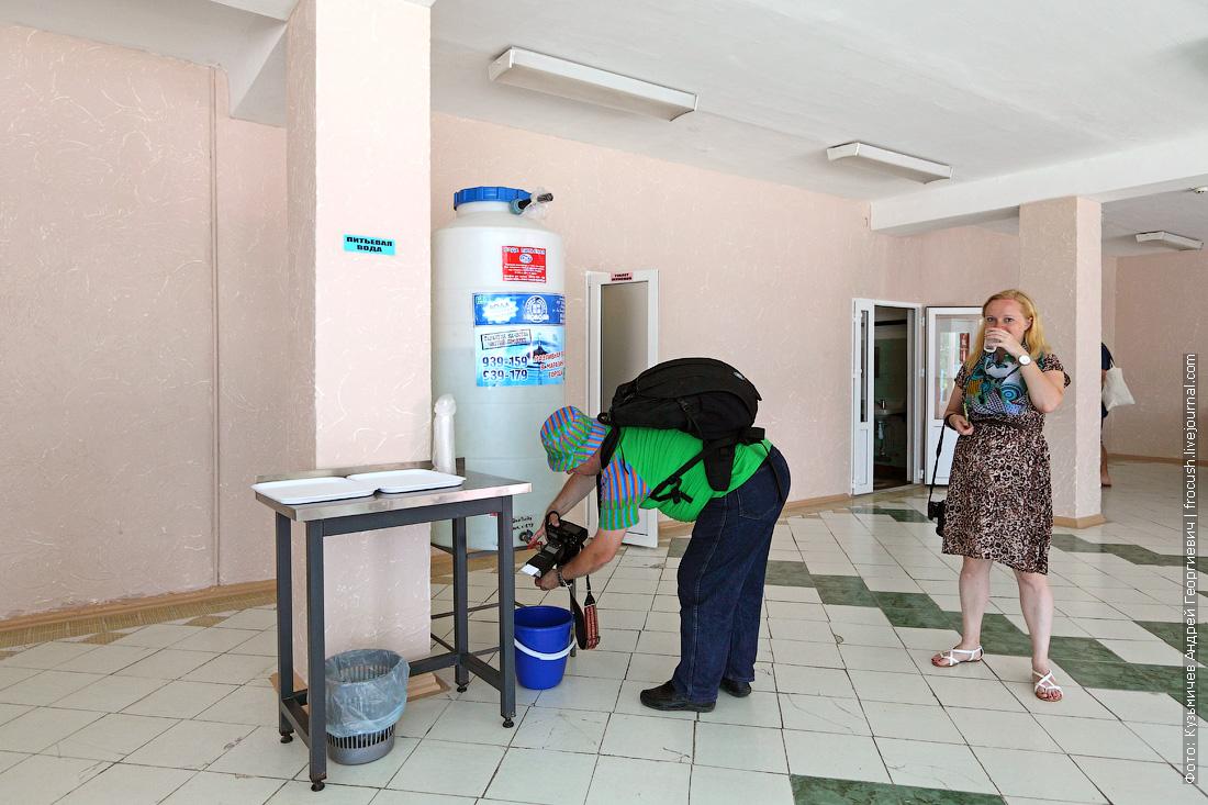 фотографии ДОЛ Радость питьевая вода на первом этаже столовой
