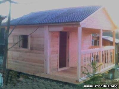 Деревянные дома и бани из бруса, каркасно-щитовые, Под ключ, Короткие