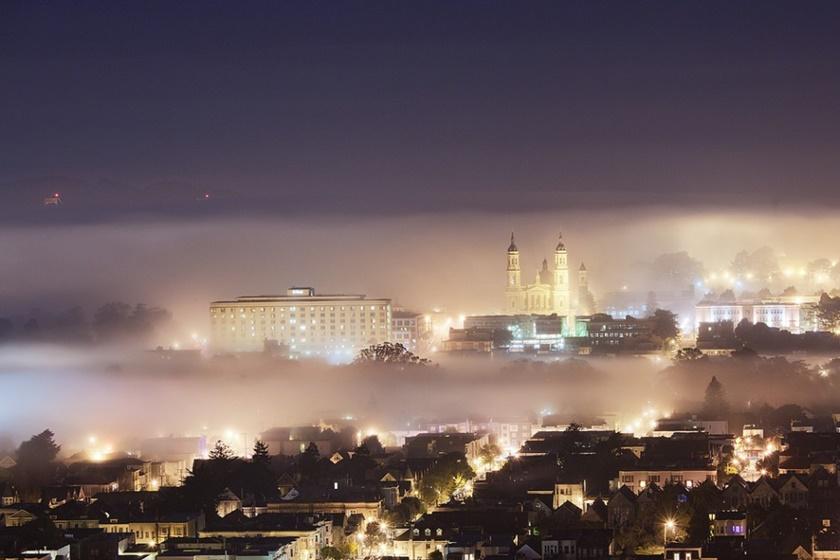 Красивые фотографии тумана в Сан Франциско, США 0 142297 c6446387 orig