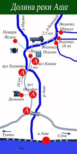 Карта достопримечательностей.
