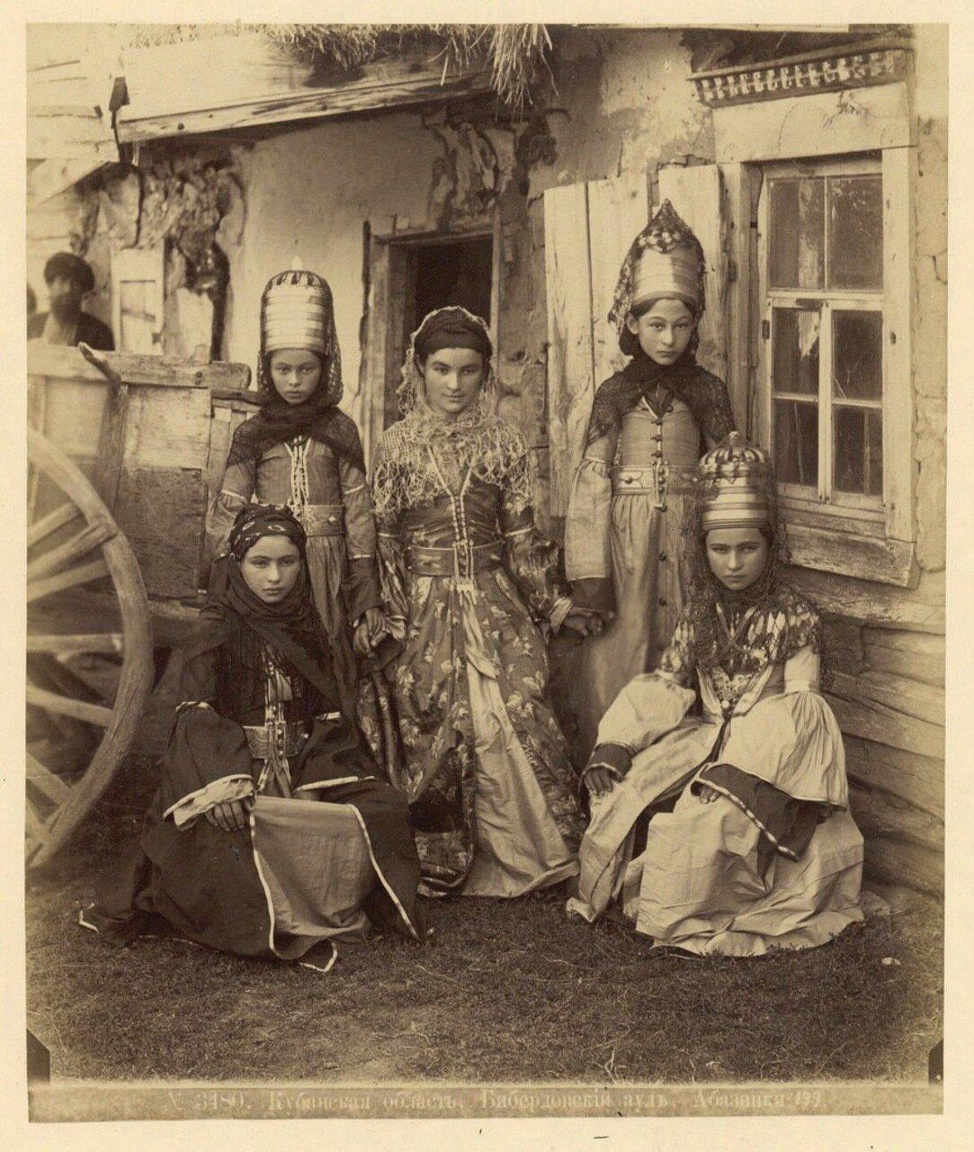 Кубанская обл. Абазинки. 1890