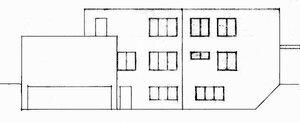Дом Германа Ланге в Крефельде, архитектор Мис ван дер Роэ, фасад