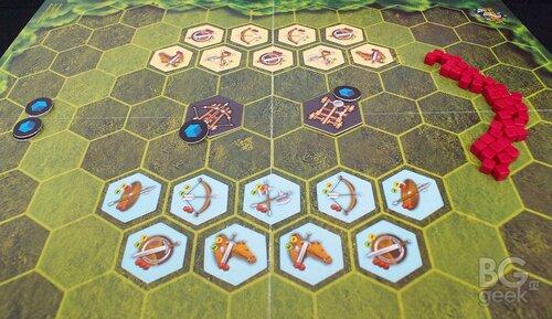 дополнение к настольной игре Братство Девяти: Гексостратегия - Артиллерия - распечатай и играй