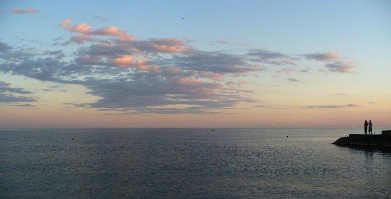 вечер у моря...