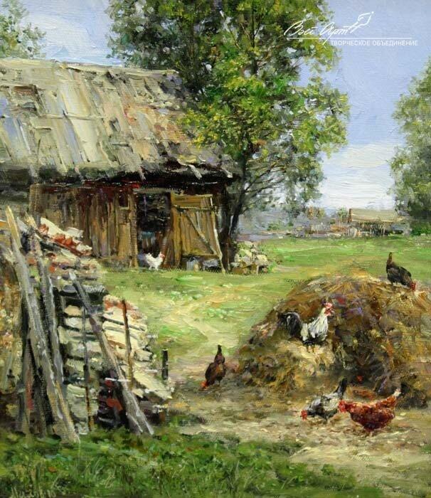 Двор в деревне фото