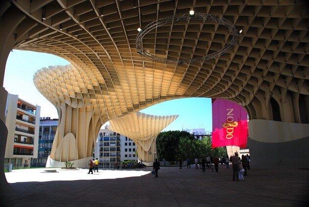 Культурный центр Metropol Parasol. Севилья, Испания