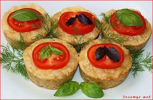 Маффины из тунца с картофелем