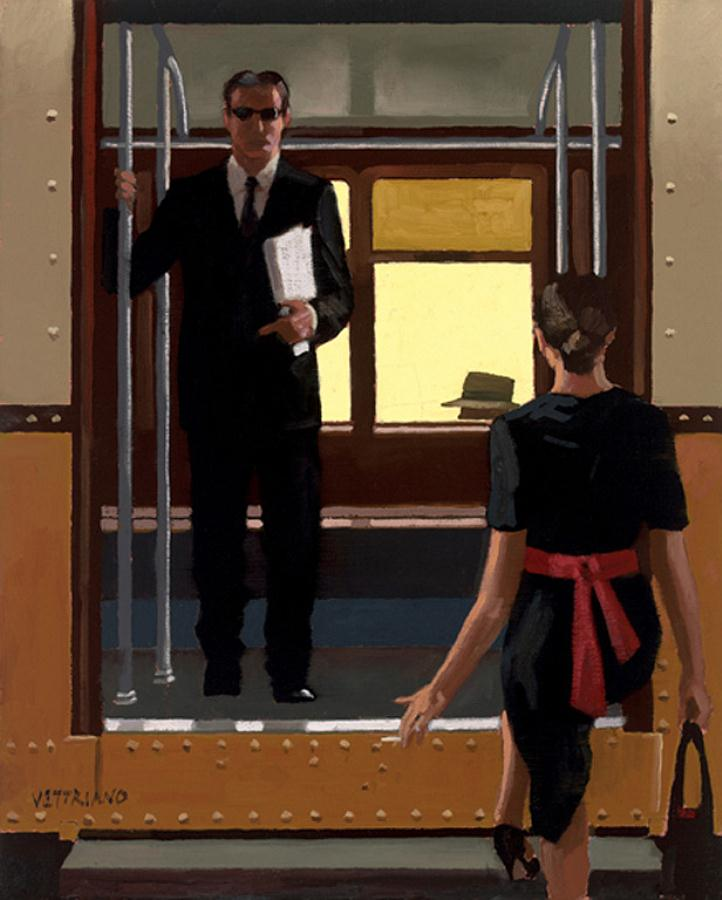 Passing Strangers, by Jack Vettriano.