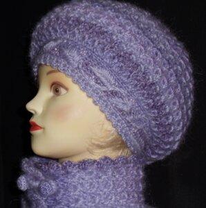 Вязание женских шапок со схемами фото 1