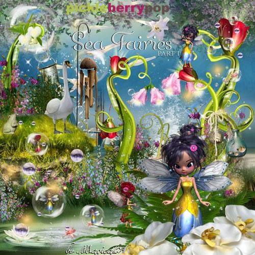 сказочный скрап-набор морские феи sea fairies
