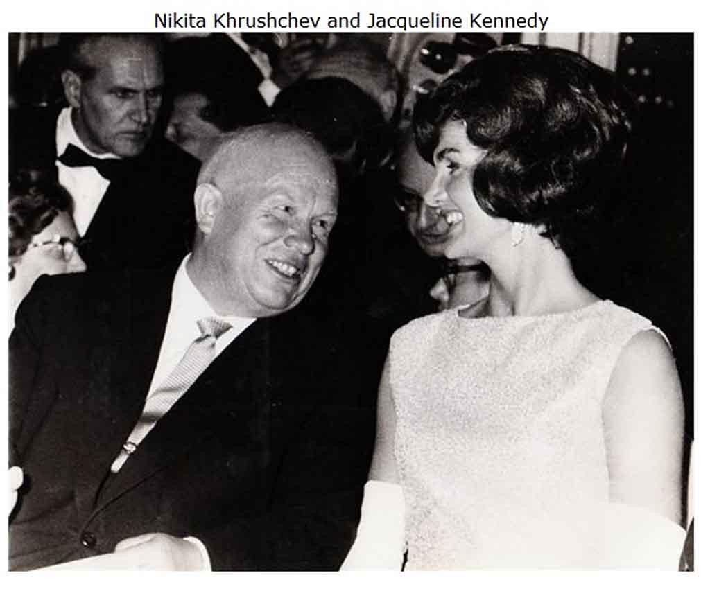 Никита Хрущёв и Жаклин Кеннеди 4-го июня 1961 на приёме в честь встречи  лидеров, данном федеральным президентом Австрии Адольфом Шерфом