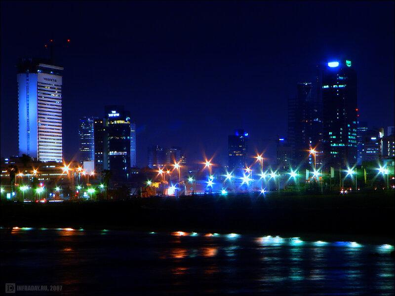 Ночной Тель-Авив, фотография ночного Тель-Авива