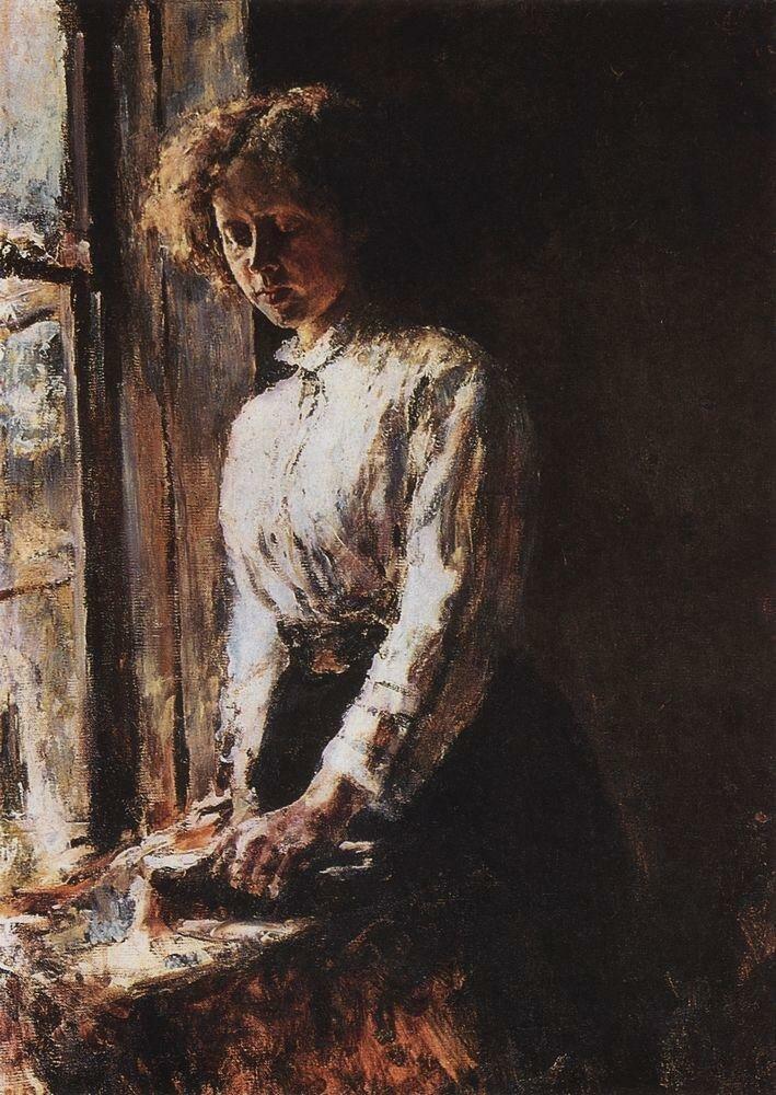 У окна. Портрет О.Ф.Трубниковой. 1886.jpg