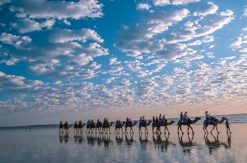 Пляж с белым песком в Австралии