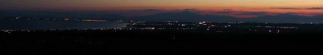 Greece, Kassandra, night view