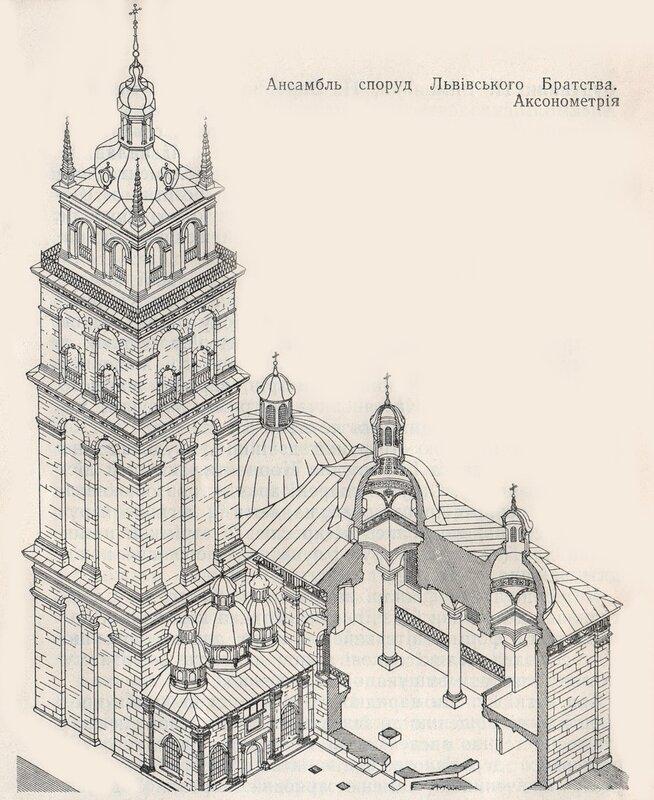 Успенская церковь во Львове (аксинометрия)