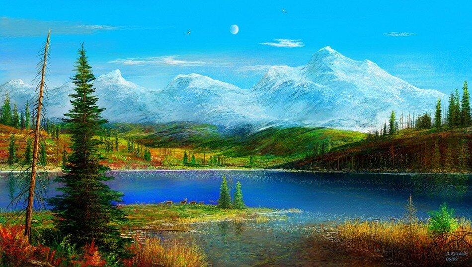 Пейзаж летний лес пейзаж пейзаж с