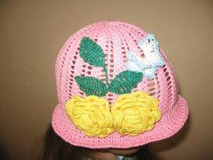 Летние вязанные шапочки,  шляпки и косынки 0_68fa6_1359696e_M