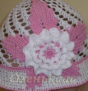 Летние вязанные шапочки,  шляпки и косынки 0_6c013_a105758d_M