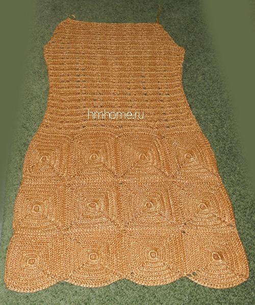 Платье, связанное крючком своими руками