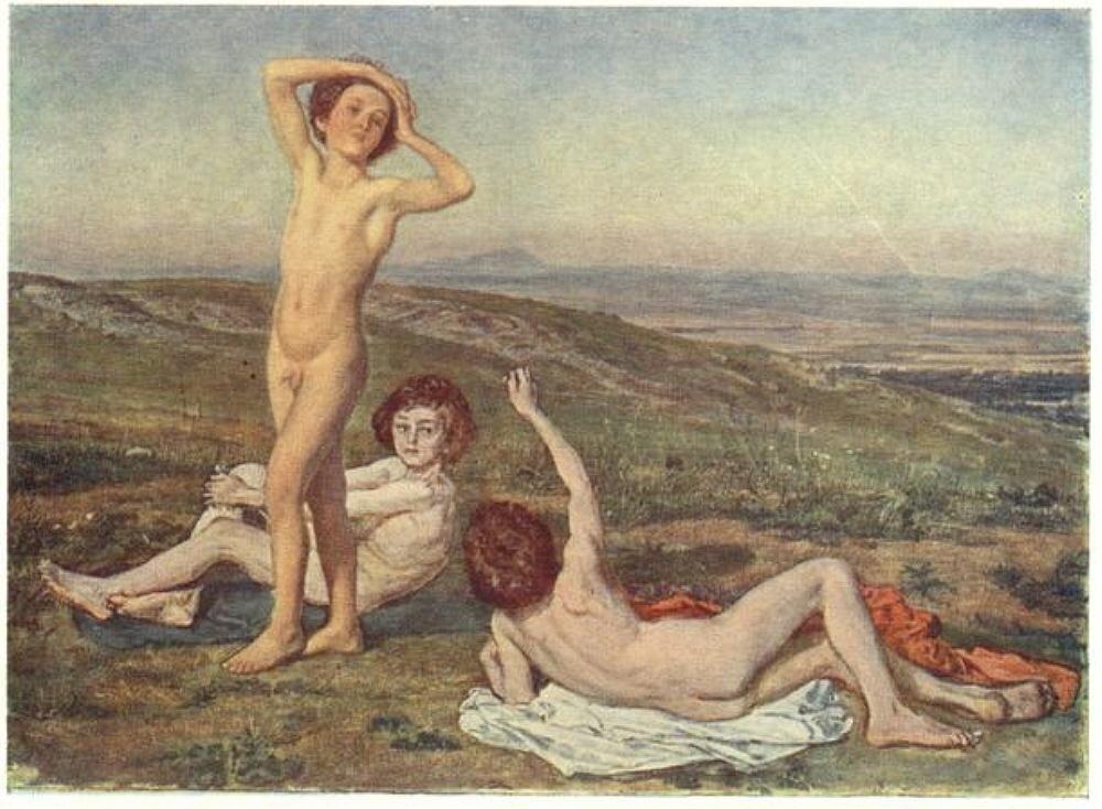 Три нагих мальчика. Иванов А.А. (1852-1858)
