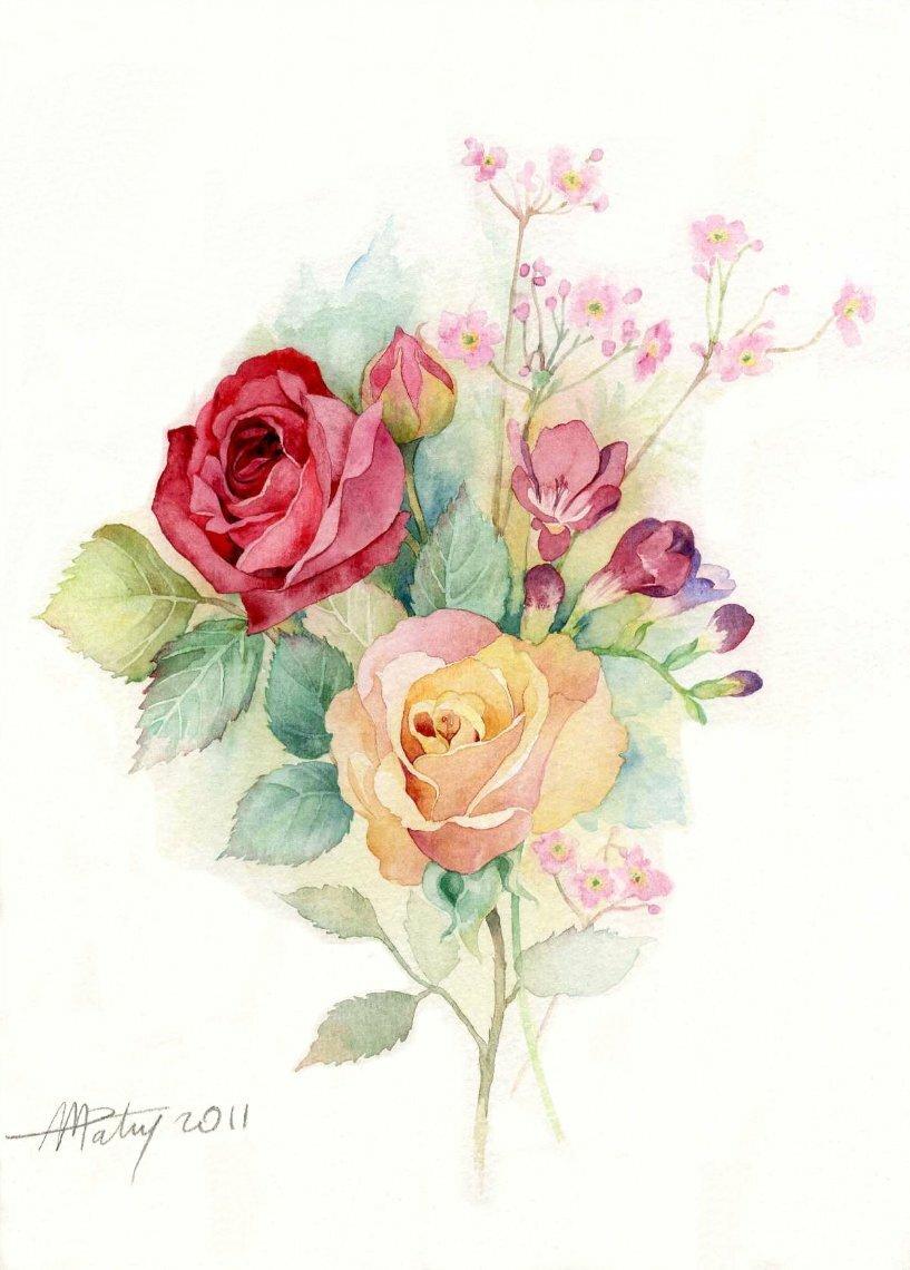 Рисунки для открытки акварель