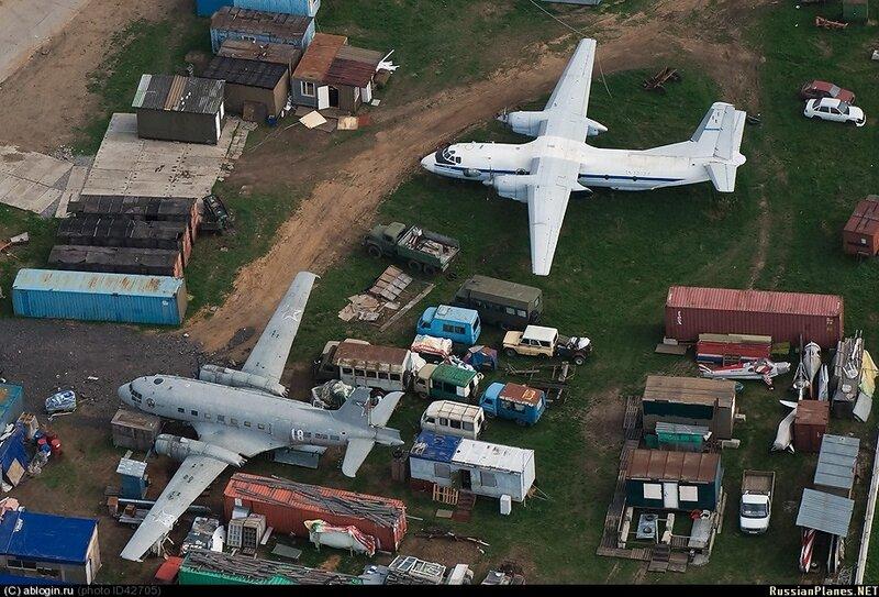 Ил-14Т и Ан-26 в Тушино - май 2011г