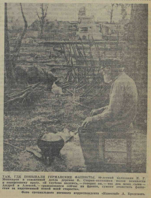 «Известия», 13 августа 1941 года, идеология фашизма, издевательства фашистов над мирным населением