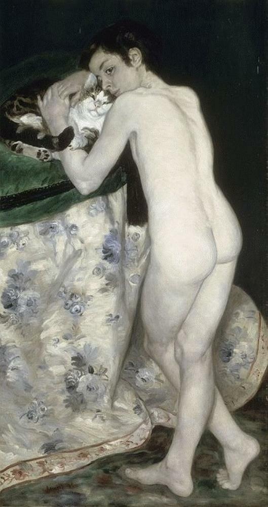 The Boy with the Cat,1868, Pierre Auguste Renoir (1841-1919) Paris, Musée d'Orsay, (Le garçon au chat)