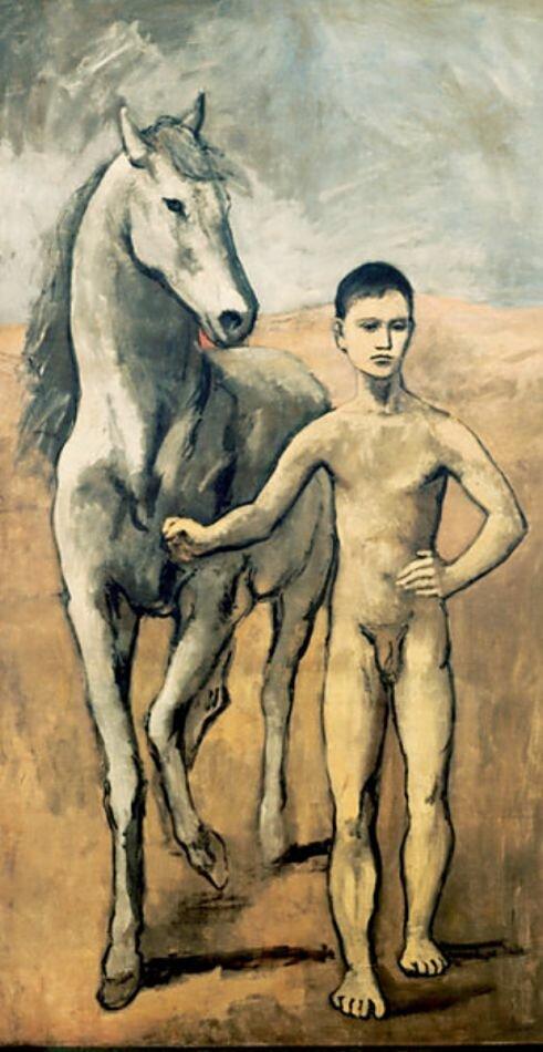 Пикассо, Мальчик, ведущий коня. 1906  Pablo Picasso, Boy Leading a Horse, 1906