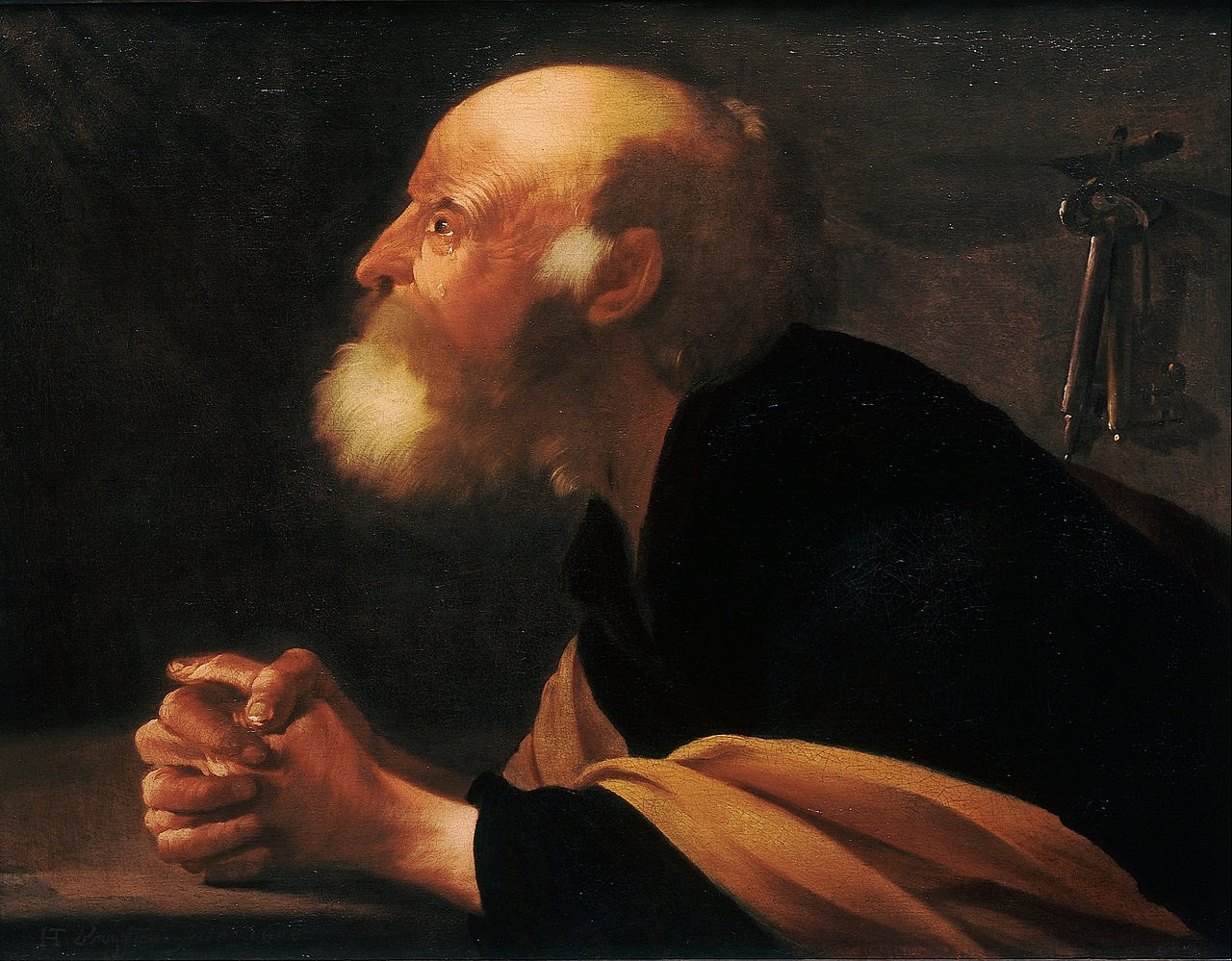 The repentant Peter  1616. Hendrick ter Brugghen (1588-1629)