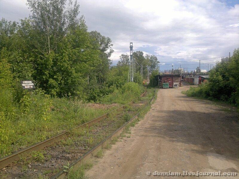 Подъездной путь от станции Ховрино.