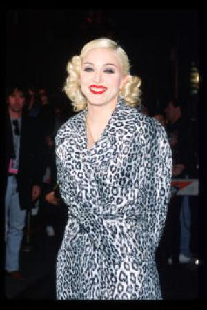 Madonna Arrives At Her Pajama Party