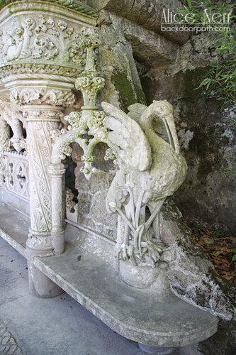 каменные прелести парка Регалейра, quinta da regaleira, sintra