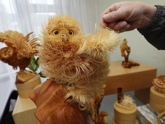 Животные из древесной стружки