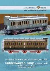Журнал 3-achsiger Personenwagen  Abteilwagen [Kartonmodell Forum]