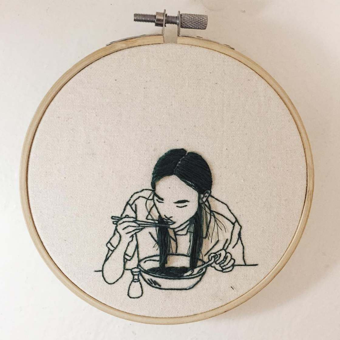 Delicate embroidery by Sheena Liam