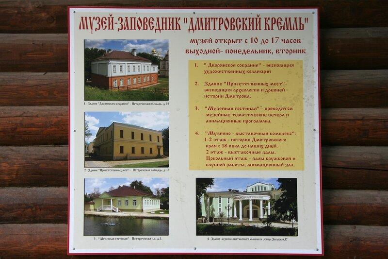 Дмитровский кремль, Музеи
