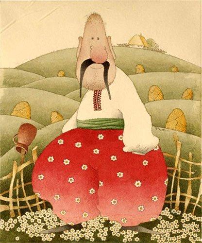 Сказка про разумную дивчину! Графическая живопись по ткани Виктории Процив