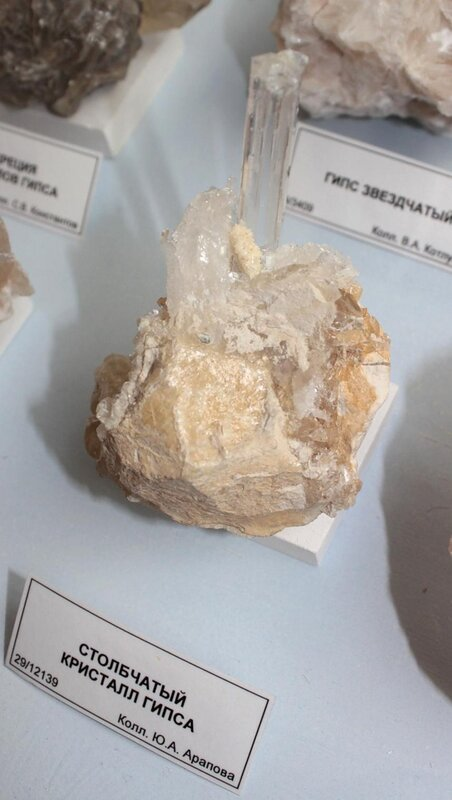 Столбчатый кристалл гипса