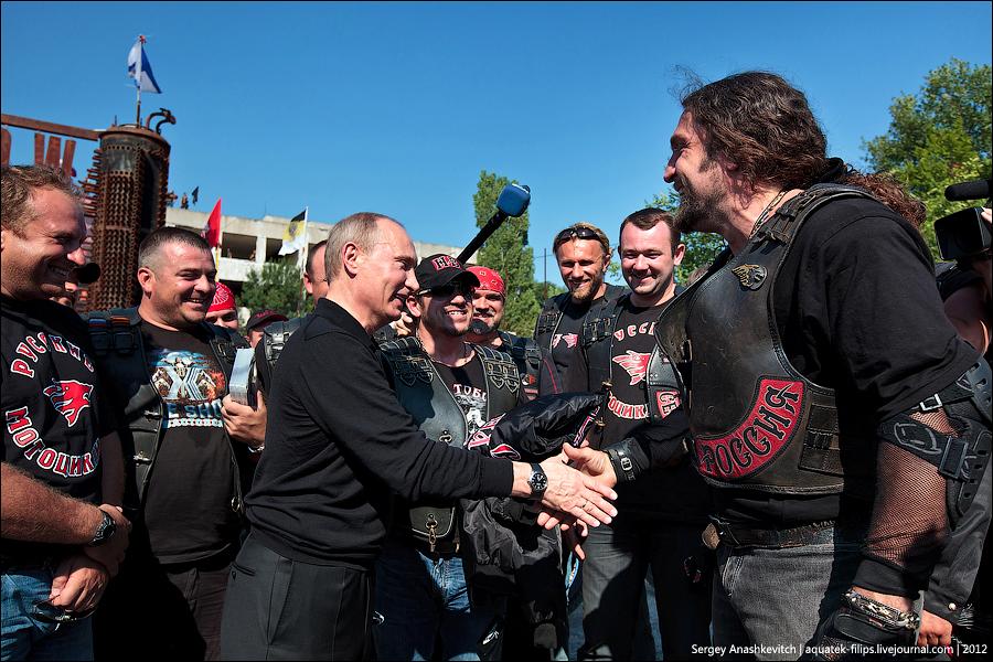 Путин у байкеров