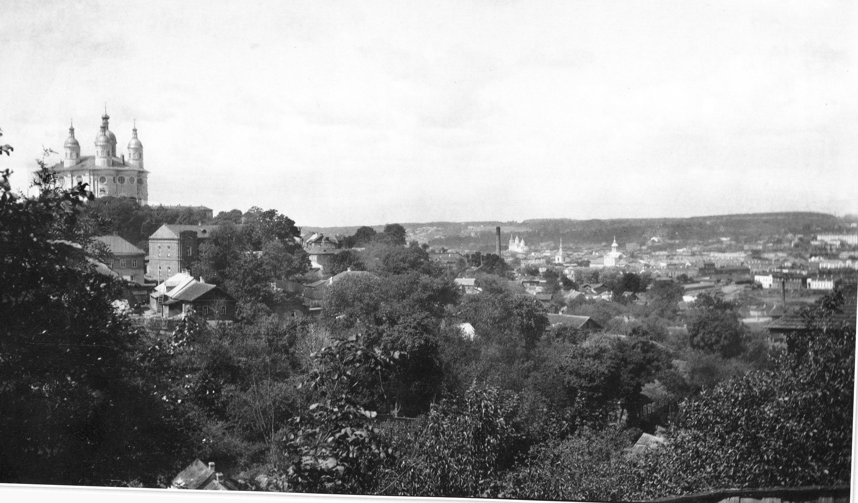 Вид на Соборную гору и Заднепровье. 1909