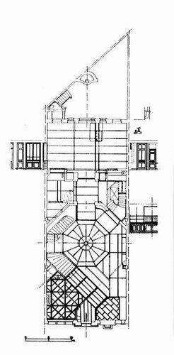 Отель van Eetvelde в Брюсселе, архитектор Виктор (Гектор) Гимар, план 2-ого этажа