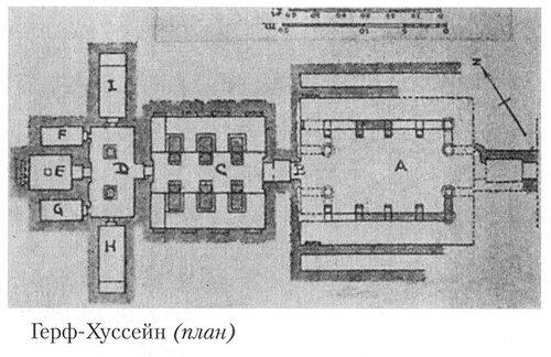 Храм в Герф-Хуссейн (Нубия), Египет, план