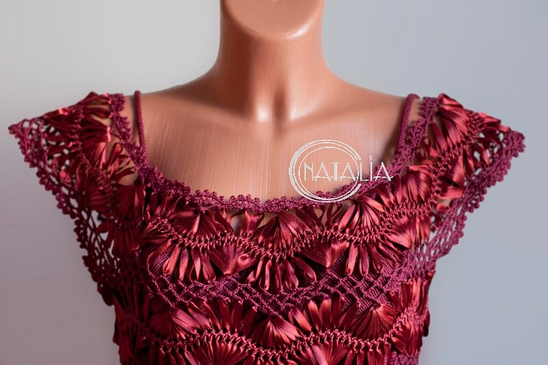Платье вязаное на вилке схемы