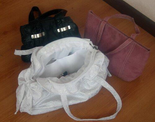 Белая летняя сумка, сшитая своими руками. Авторская работа