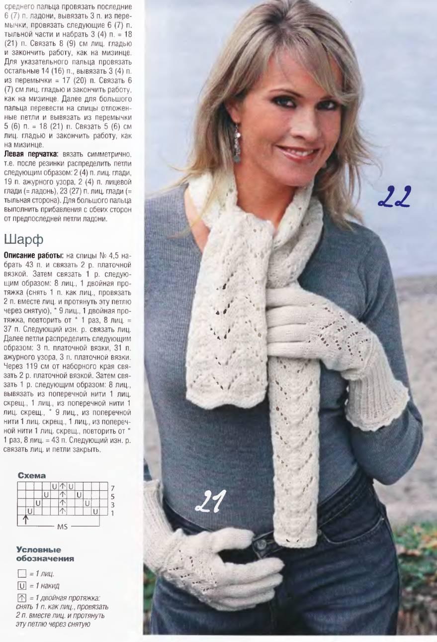 Вязание спицами для женщин шарфа с описанием